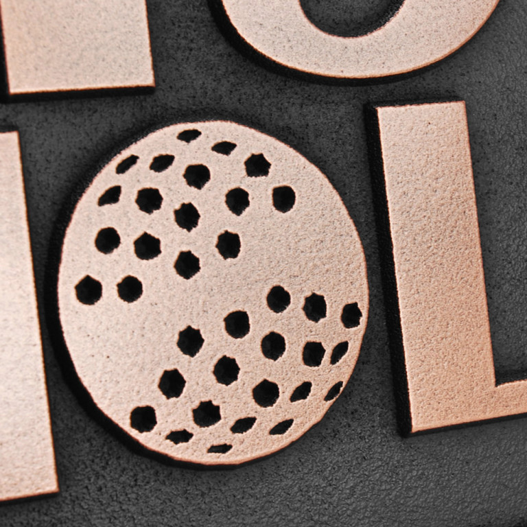 19th Hole Golf Sign - Copper Detail