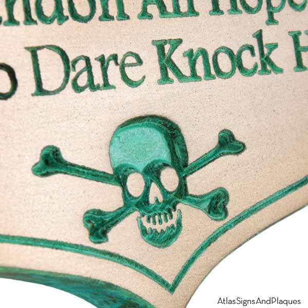 Abandon Hope Solicitors - Bronze Verdi Recessed Detail