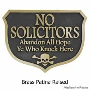 Abandon Hope Solicitors - Brass