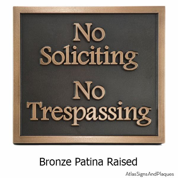 No Soliciting Plaque