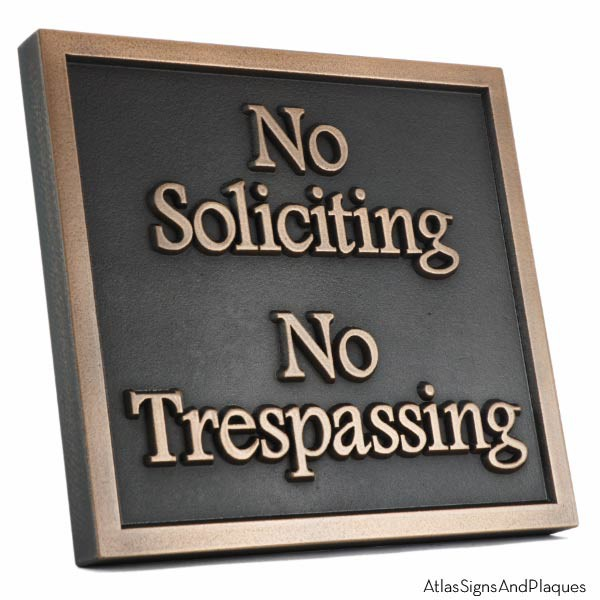 Almost Square No Soliciting - Bronze