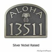 Aloha Address Plaque - Silver Nickel