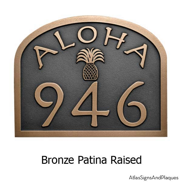 Aloha Address Plaque - Bronze
