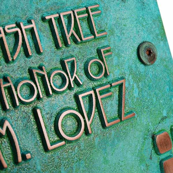 American Craftsman Business Plaque - Copper Verdi
