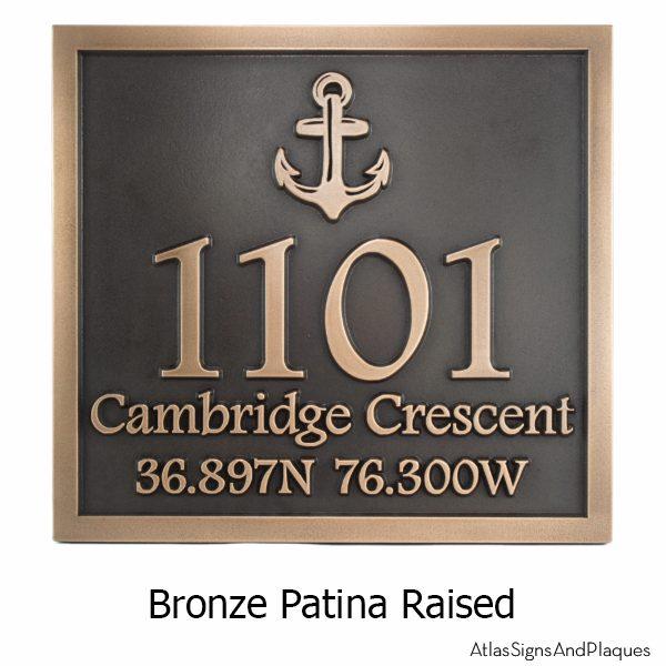 Anchors Away Wedding Plaque - Bronze