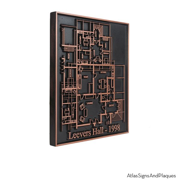 Tactile Blueprint Plaque - Copper