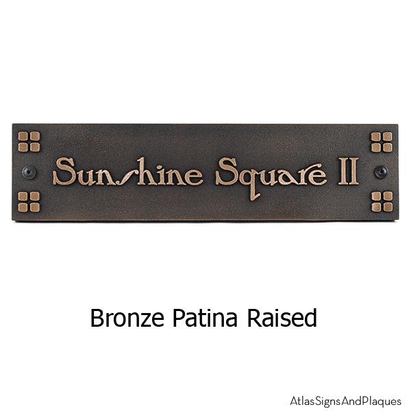 FLW Name Plate Plaque - Bronze