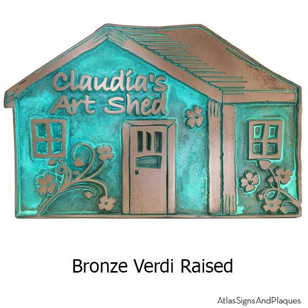 Artsy Shack Plaque - Bronze Verdi