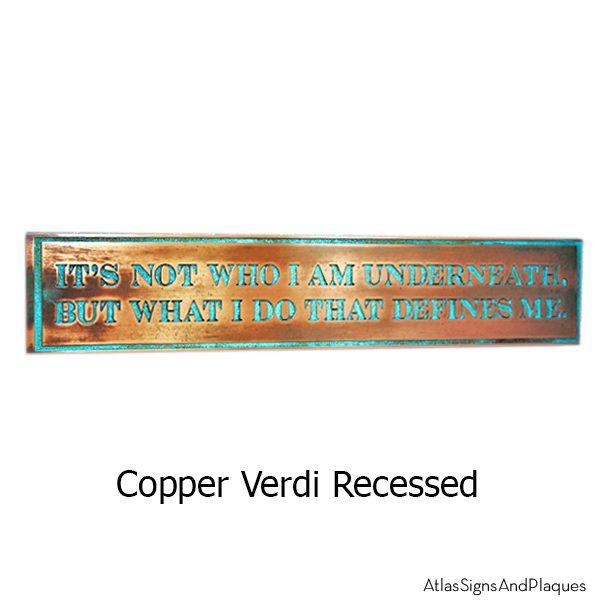 Bat Man Plaque - Copper Verdi