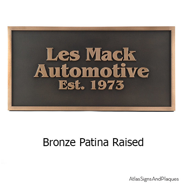 Benguiat Business Plaque - Bronze