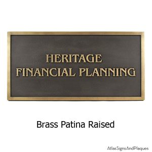 Benguiat Business Plaque - Brass