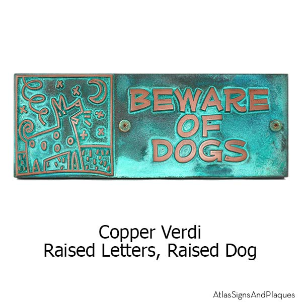 Beware of Bowser Sign - Copper Verdi Shown with Optional T30 Screws
