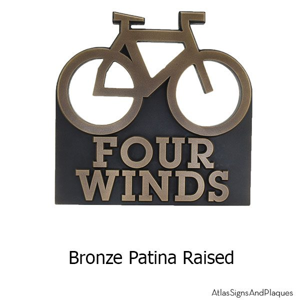 Bike Address Plaque - Bronze