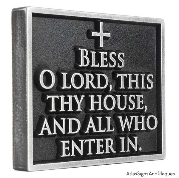 Blessing Welcome Plaque - Pewter