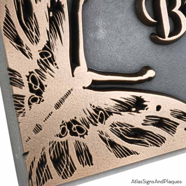 Butterfly Memorial Plaque - Bronze Detail