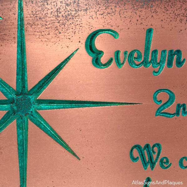 Celestial Sign - Copper Verdi Detail