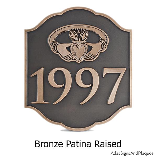 Celtic Claddagh Ring Plaque - Bronze