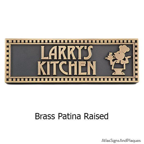 Chef Plaque - Brass