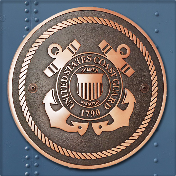 US Coast Guard Plaque - Copper