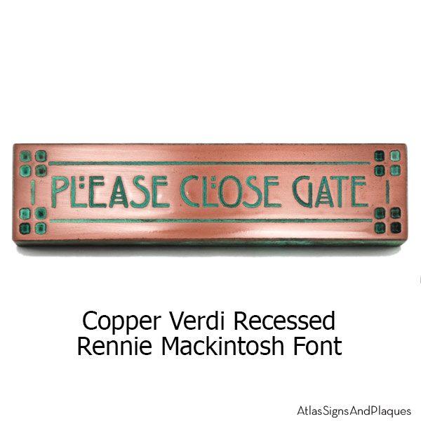 Craftsman Mini - Copper Verdi Rennie Mackintosh Font