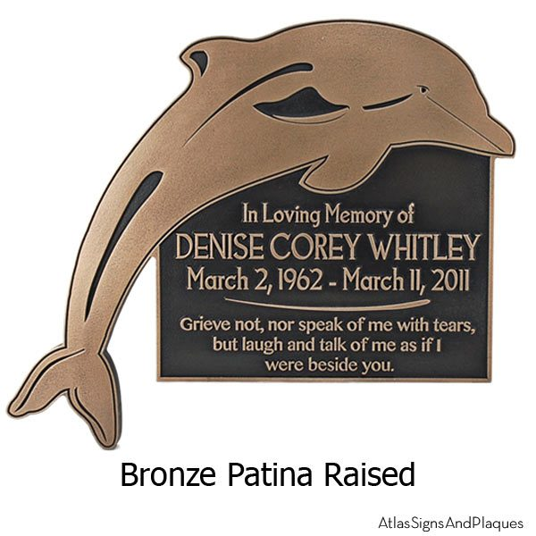 Dolphin Address Plaque - Bronze