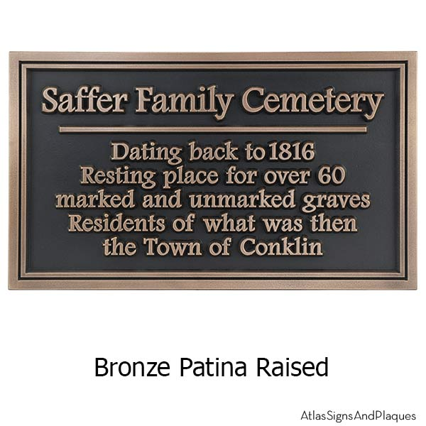 Double Border Historical Marker - Bronze