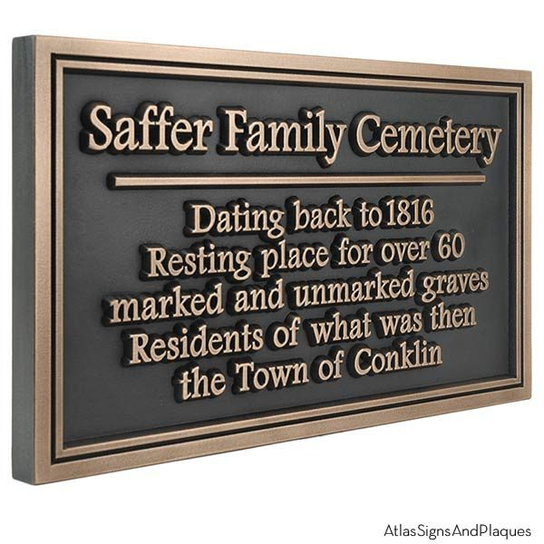 Double Border Historical Marker - Bronze