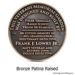 Eagle Scouts Plaque - Bronze Shown with Optional T30 Screws