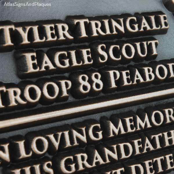 Eagle Scouts Plaque - Bronze Detail