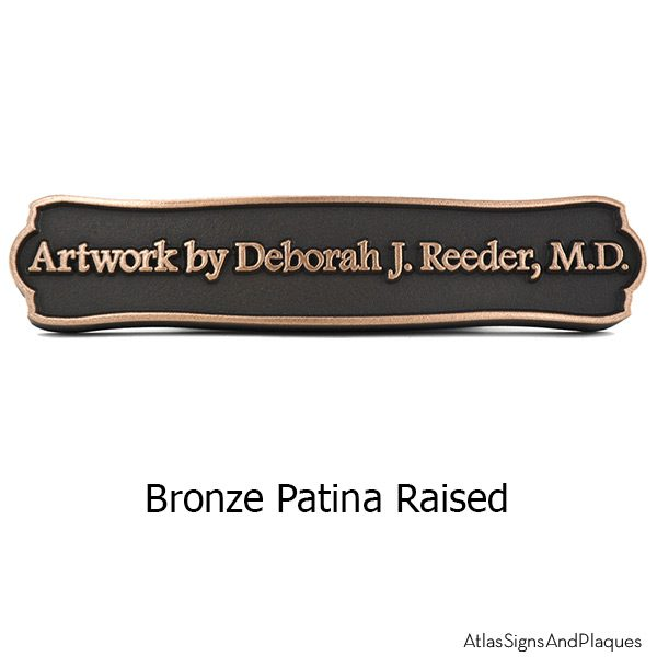 Fancy Frame Name Plaque - Bronze