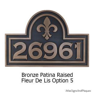 Fleur De Lis Arch Plaque - Bronze