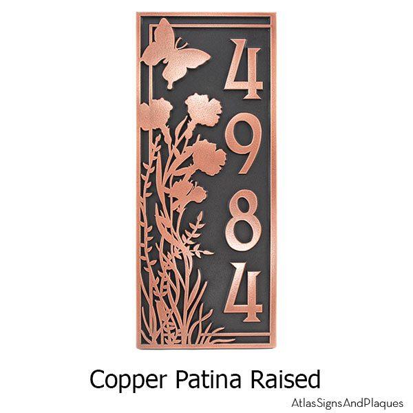 Garden Address Plaque - Copper