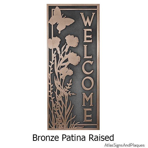 Garden Welcome Plaque - Bronze