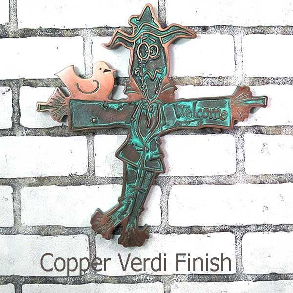 Garden Scare Crow - Copper Verdi