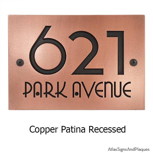 Grado Gradoo Address Plaque - Copper Shown with Optional T30 Screws