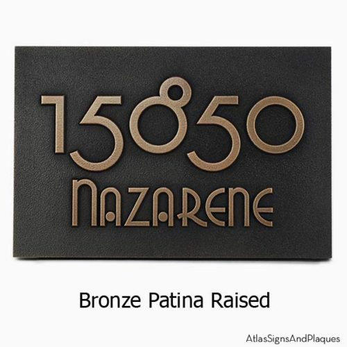 Grado Gradoo Address Plaque - Bronze