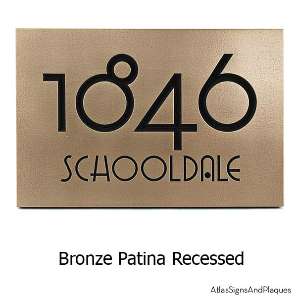 Grado Gradoo Address Plaque - Bronze