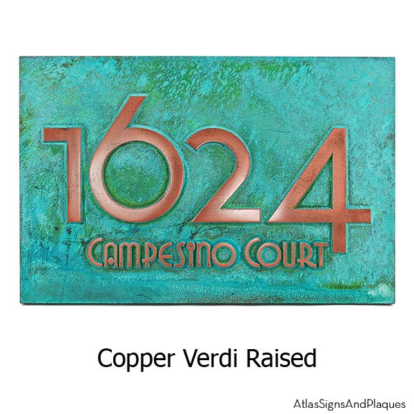 Grado Gradoo Address Plaque - Copper Verdi