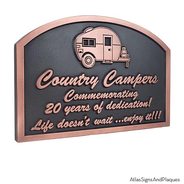 Happy Campers Sign - Copper