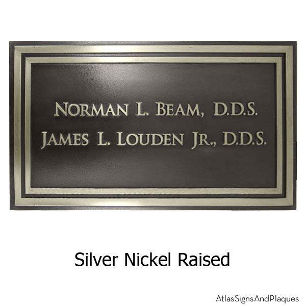 Healthcare - Signage - Silver Nickel