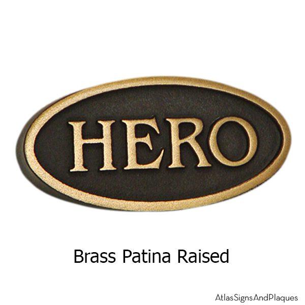 Hero Sign - Brass