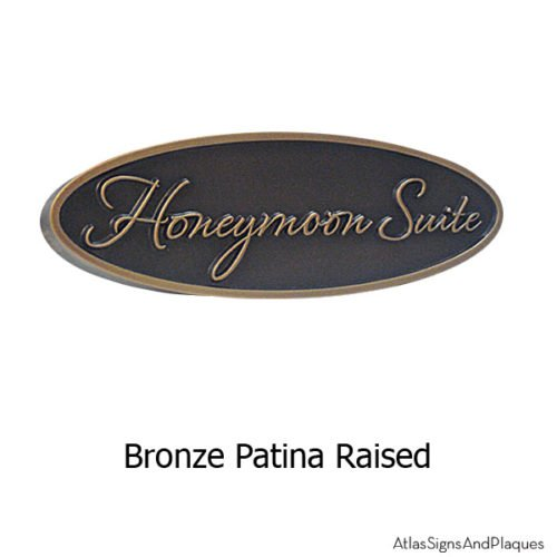 Hospitality Door Signage - Bronze