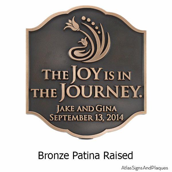 Joy Personalized Wedding Plaque - Bronze