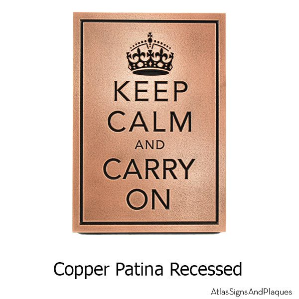 Keep Calm and Carry On - Copper
