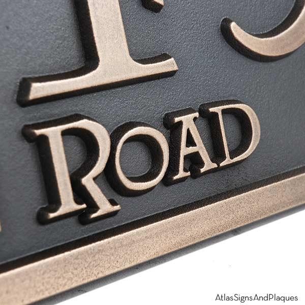 Lumos Address Plaque - Bronze Detail