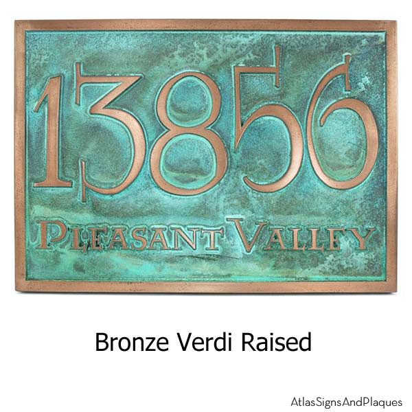 Lumos Address Plaque - Bronze Verdi