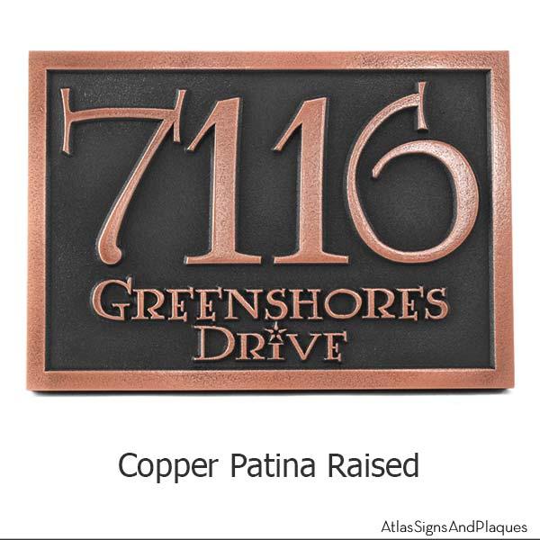 Lumos Address Plaque - Copper