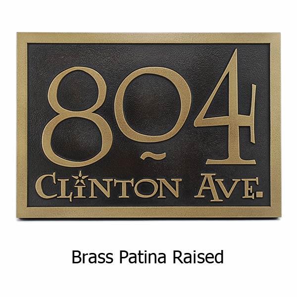 Lumos Address Plaque - Brass