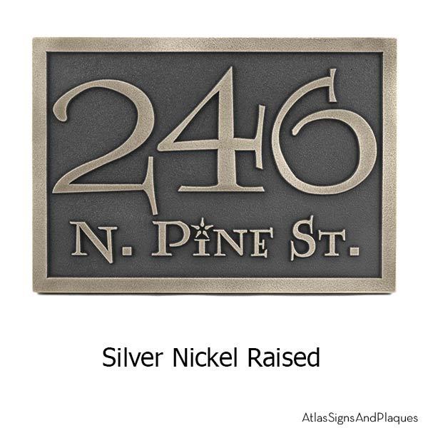 Lumos Address Plaque - Silver Nickel