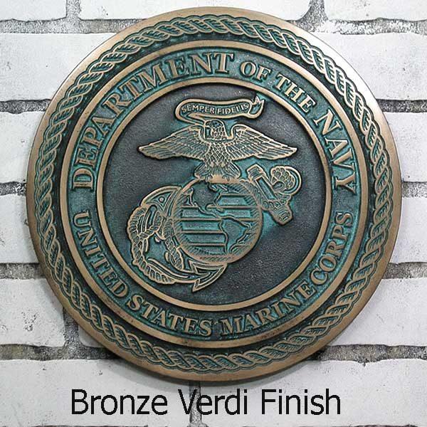 US Marine Corps Plaque - Bronze Verdi